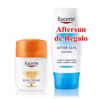 Eucerin Solar Crema SPF50+ Coloreada 50 ml (Regalo de Aftersun de 150 ml)