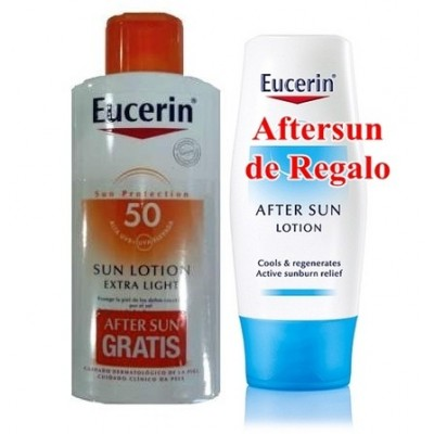 Eucerin Solar Loción Light SPF50+ (Regalo de Aftersun) 150 ml