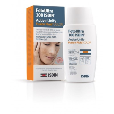 Isdin Fotoprotector Ultra Active Unify Fusión Fluid SPF100+ 50 ml con color