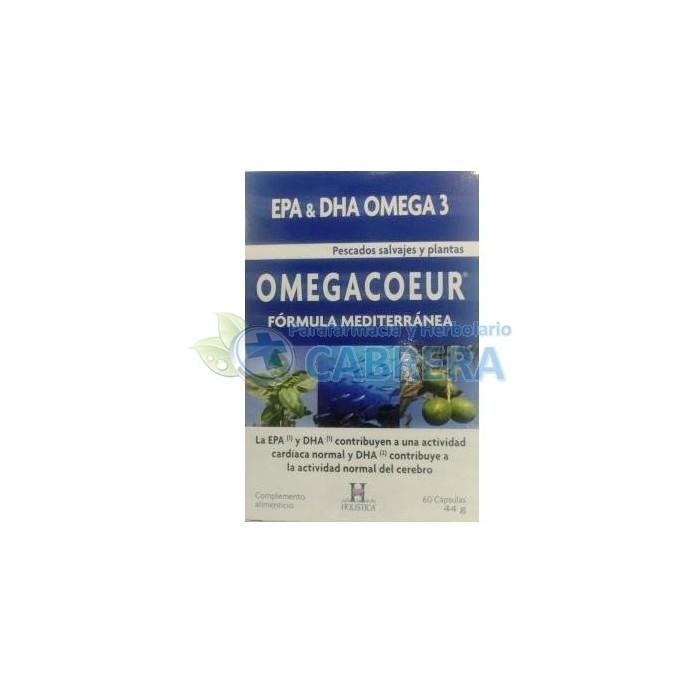 Omegacoeur (Omega 3 de pescado salvaje, Omega 6 y Omega 9) 60 cápsulas