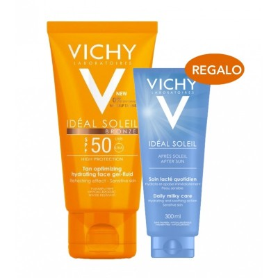 Vichy Ideal Soleil Gel Fluido Bronze 50 ml + Aftersun 100 ml de regalo