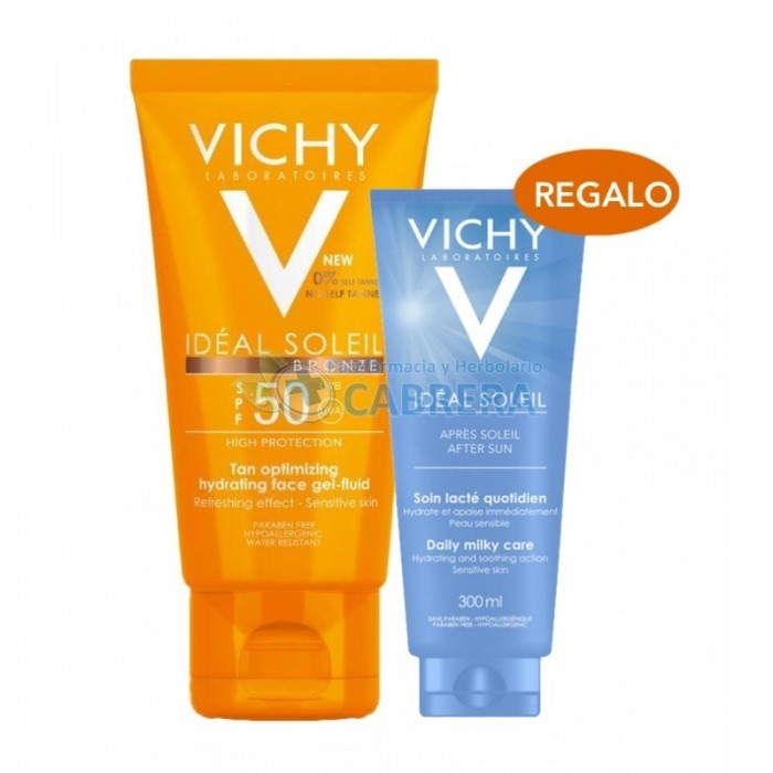 Vichy Ideal Soleil Gel Fluido Bronze 50 ml + Aftersun 100 ml de regalo