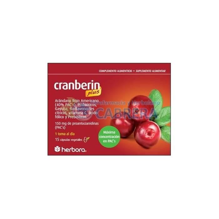 Herbora Cranberin Plus 15 cápsulas
