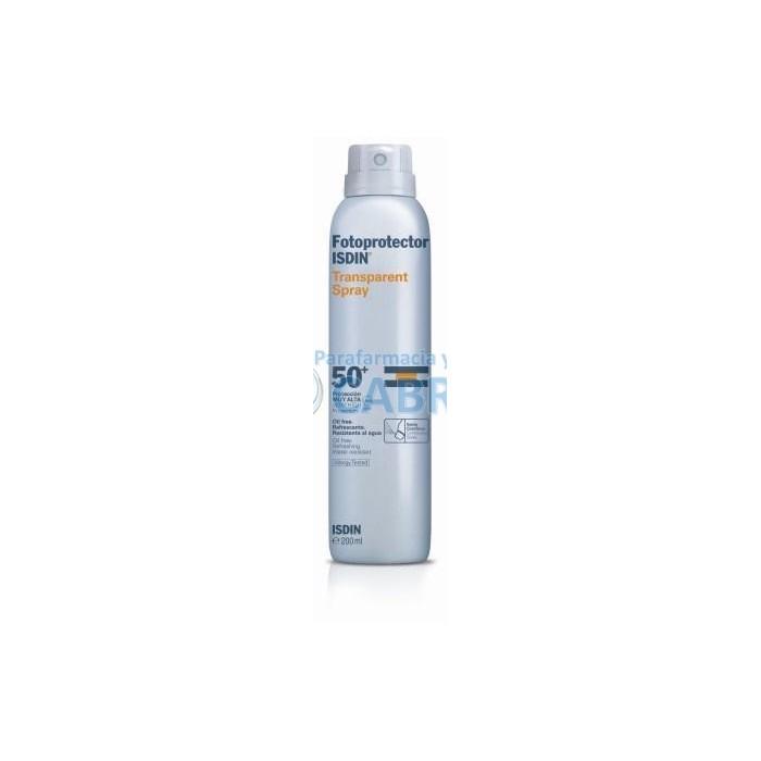 Isdin Fotoprotector Spray Transparente SPF50+ 200 ml