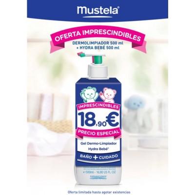 Mustela Pack Dermolimpiador 500 ml + Hydrabebé Corporal 500 ml
