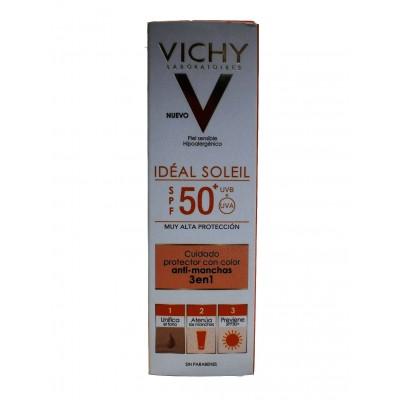 Vichy Idéal Soleil Protector Antimanchas 3en1 SPF50+