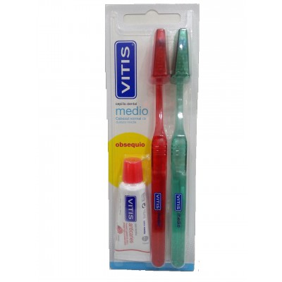 Dentaid Vitis Cepillo Dental Medio Duplo