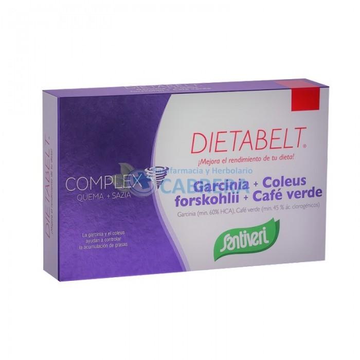 Santiveri Dietabelt Quema + Sazia Garcinia+Coleus+Café Verde 48 comprimidos