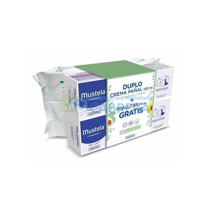 Mustela Crema 1-2-3 Bálsamo duplo 2x100 ml + toallitas regalo