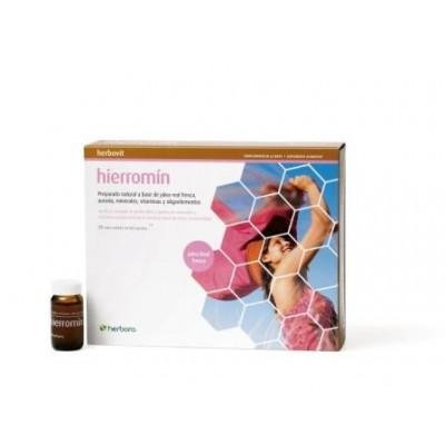 Hierromin 20 ampollas