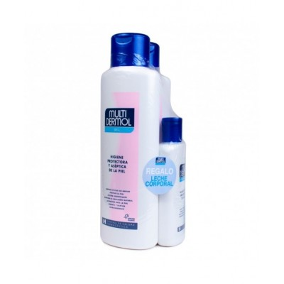 Mutidermol Gel Hidratante 750 ml Pack duplo + leche hidratante