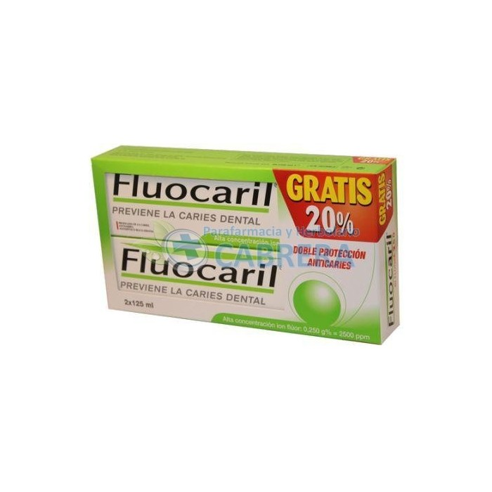 Fluocaril Biflúor Pasta Dentífrica 125 ml Pack duplo