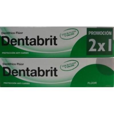 Dentabrit Flúor Pasta Dentífrica 125 ml Pack duplo