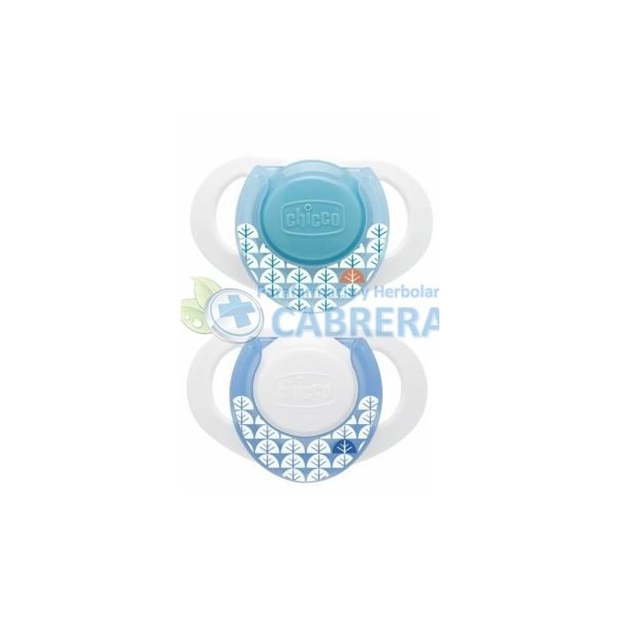 Chicco Chupete Physio Silicona 4M+ Azul 2 unidades