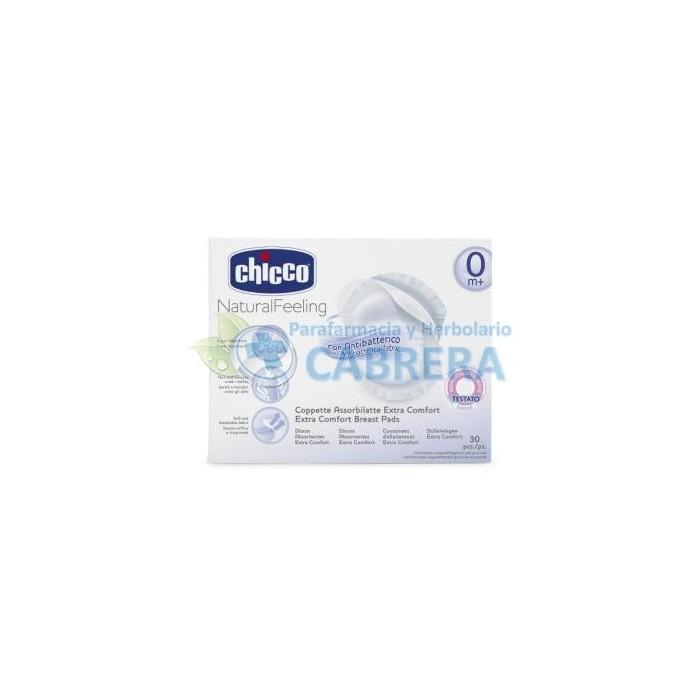 Chicco Discos Absorbentes Antibacterias 30 unidades