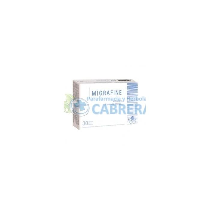 Bioserum Migrafine (Migrañas, Dolor de cabeza) 30 cápsulas
